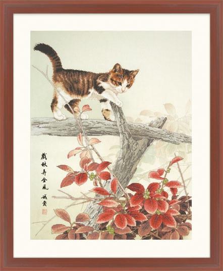 Набір для вишивки хрестом XIU CRAFTS 2801602 «Котик на гілці»
