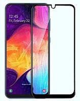 Защитное стекло для Samsung A505F Galaxy A50 Full Glue, цвет черный