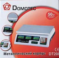 Весы торговые электронные Domotec до 50 кг со счетчиком цены