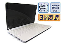 Ноутбук HP 15-a087sr 15.6 (1366x768) / Intel Core i3-4005U (2x1.7GHz) / Radeon HD 8670M, 1Gb / RAM 8Gb / HDD 500Gb / АКБ 2.5ч / Сост. 9/10 БУ