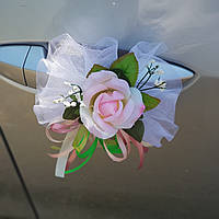 Украшение для свадебных машин- украшение на ручки автомобиля