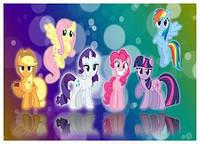 """Харчовий цукровий / вафельний їстівний друк _ лист А4 """"Маленькі Поні / My Little Pony"""""""
