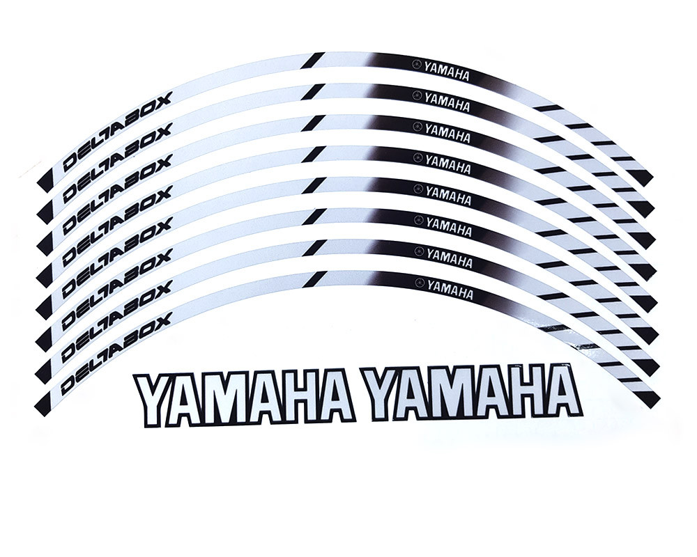 Наклейки на обод колеса Yamaha Deltabox светоотражающие