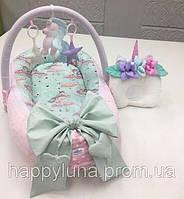 Кокон-гнездышко для новорожденных Happy Luna Единорог 4