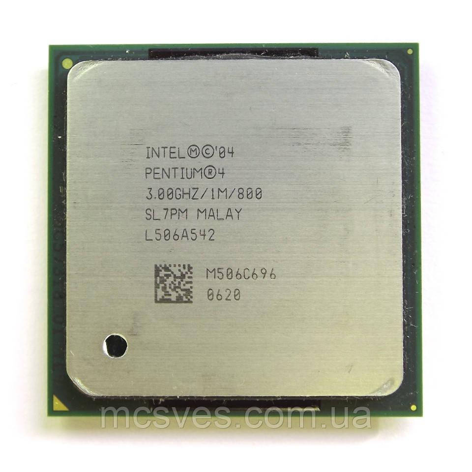 Процессор Intel Pentium 4 3.0 ГГЦ (сокет 478), 4 HT 3.0GHz 800MHz