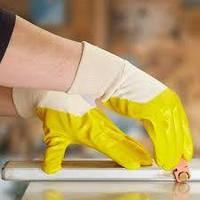 Перчатки 4523 хлопок с нитриловым желтым покрытием DOLONI