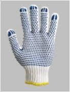 Перчатки 547 (ладошка-син. точка) 2 нити ст. плотность ХБ-70проц. на ПЕ3