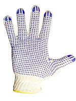 Перчатки 4242 жовті рябі (долоня-Рябушка) 10 клас тип Б ХБ-70%/ПЕ30%10р