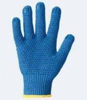 Перчатки 646 синие (ладошка-нанесение ПВХ синее) 2нитки