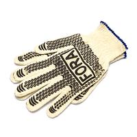 Перчатки FORA серые (ладошка-нанесение ПВХ черное)