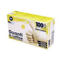 Перчатки латексные 100 шт. SAFE LATEX S