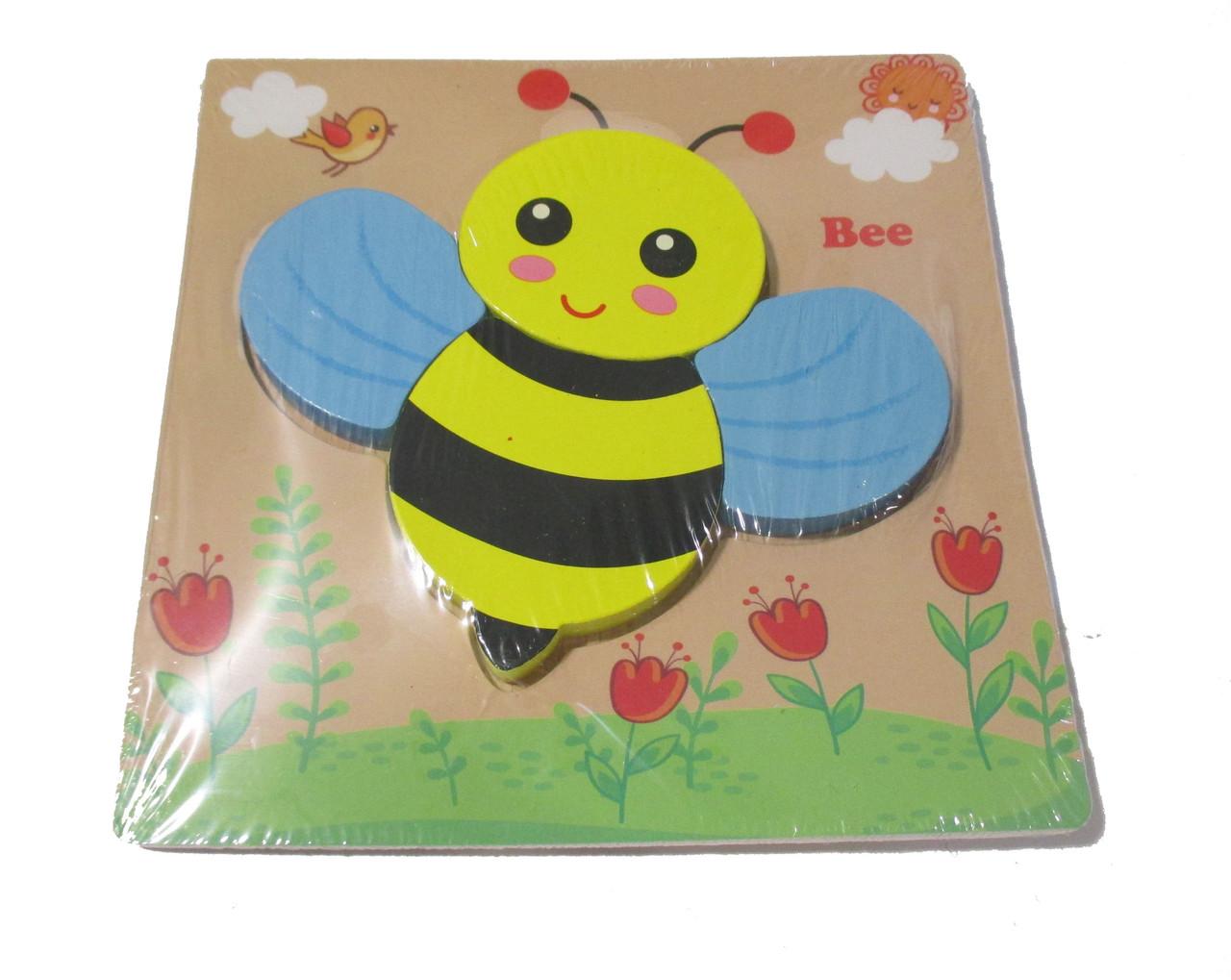 """Дерев'яні об'ємні пазли """"Бджілка"""" З 36032 (200) 6 видів"""