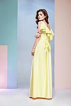 Дизайнерское вечернее платье в пол от Ксении Андресс. Ткань: Креп-сатин (Размер: M)