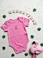 Боди-футболка ярко-розовая с зайчиками Primark на 3-6 месяцев