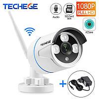 Охранная Wi-Fi IP камера TechegeIPC-BT619ASWWhite 1080P.Onvif.Инфракрасное ночное видение, микрофон.iCSee