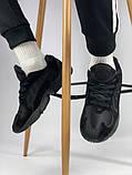 Мужские кроссовки Adidas Yung 1 total black (Адидас Янг 1 черные), фото 4
