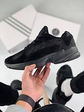 Мужские кроссовки Adidas Yung 1 total black (Адидас Янг 1 черные)