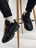 Мужские кроссовки Adidas Yung 1 total black (Адидас Янг 1 черные), фото 3