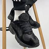 Мужские кроссовки Adidas Yung 1 total black (Адидас Янг 1 черные), фото 5