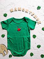 Боди-футболка зелёная Primark для малыша 6-9 месяцев