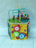 Деревянный логический куб-бизиборд ., фото 1