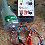 Медогонка 4-х Рамоч. Поворотная. С Горизонтальным Электроприводом на подставке! Кассеты сварные, порошковые., фото 2