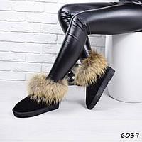 Угги женские Енот 6039 зимняя обувь