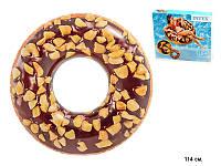 """Надувной Круг """"Пончик Шоколад"""" 114см  Intex 56262, круги Интекс"""