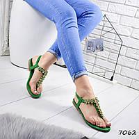 Босоножки женские Frida зеленые 7062, фото 1