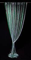Шторы-нити радуга Зеленые с люрексом 285 грн