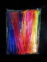 Мешалка витое весло цветная 100 шт 20 см