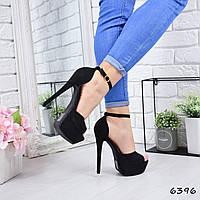 Босоножки женские Pamella черные 6396 , летняя обувь