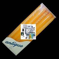 Свеча столовая, конусная, h=25см, 10 штук в упаковке, жёлтая