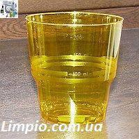 Стакан стекло подобный 200 мл 25 шт желтый (метка-200)