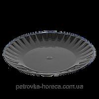 Тарелка стеклоподобная чёрная, d=20,5 см, в упаковке 10 штук Укр.