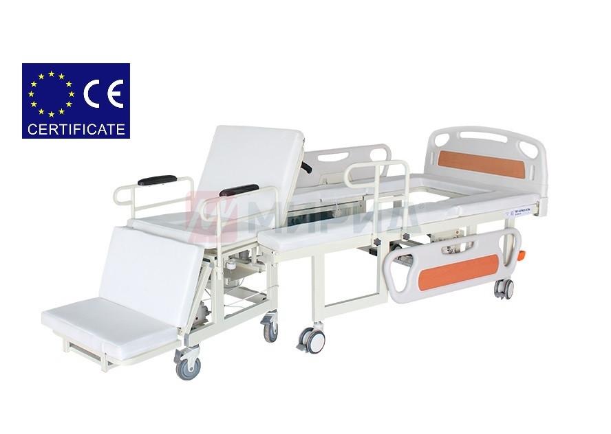 Медицинская кровать электро W01. Функция мобильного кресла, санитарное устройство. Кровать для инвалидов.