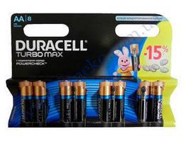 DURACELL TurboMax AA батарейки алкалиновые 1.5V LR6 8шт Бельгия