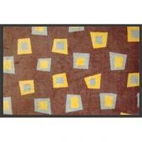Нейлоновый коврик на резиновой основе коричневый