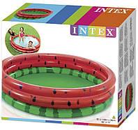 Детский надувной бассейн Арбуз Intex 58448, надувной бассейн для детей 168*38см