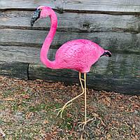 """Садовая фигура """"Фламинго на металлических лапах"""" Н-110см"""