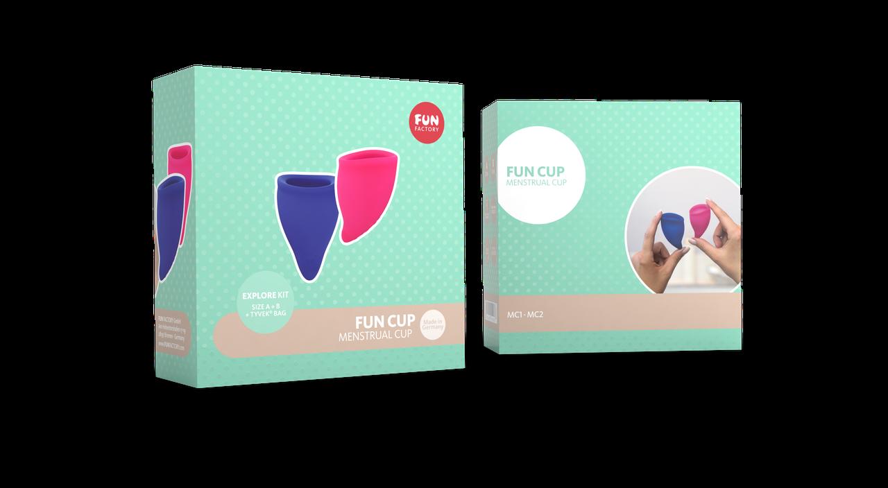 Набор менструальных чаш Fun Cup размер А и B. Менструальные чаши