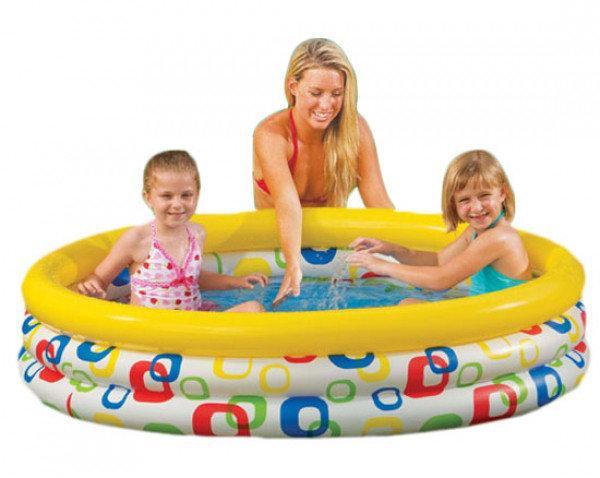 Детский надувной бассейн Геометрия Intex 58439, надувной бассейн для детей 147*33см