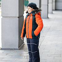 """Модный зимний комплект  на мальчика """"Богнер"""" куртка+полукомбинезон"""