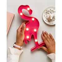 Светильник 3D Фламинго