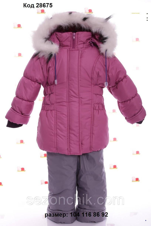 Комбинезон на девочек зимний тёплый с капюшоном