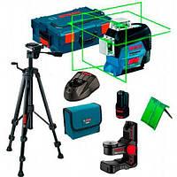 Лазерный нивелир Bosch GLL 3-80 CG + держатель BM 1 + штатив BT 150 + зарядное с аккумулятором 12 V + L-Boxx