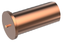 ISO13918 Втулка 8х12/М6 привар 4.8 обмідн