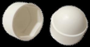 Заглушка колпачковая белая шестигранная под ключ S8 (М5) (100 шт/уп)