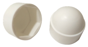 Заглушка колпачковая белая шестигранная под ключ S10 (М6) (100 шт/уп)