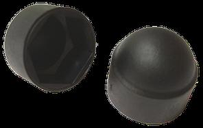 Заглушка колпачковая черная шестигранная под ключ S10 (М6) (100 шт/уп)